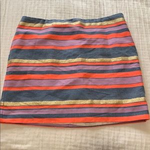 JCREW STIPED MINI SKIRT
